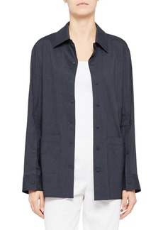 Theory Front Button Tie Jacket
