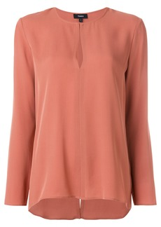 Theory front slit blouse - Pink & Purple