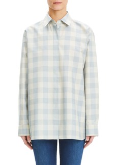 Theory Fuji Check Menswear Oversized Shirt