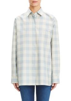 Theory Fuji Check Menswear Oversized Shirt