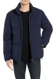 Theory Fulton 3 Regular Fit Seersucker Puffer Jacket