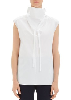 Theory Funnel-Neck Tie Top