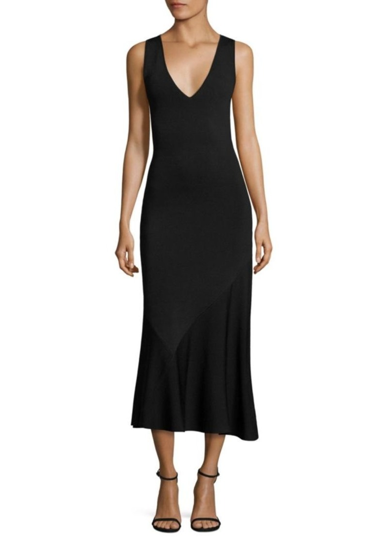 Theory Gardella Lustrate Asymmetrical Midi Dress