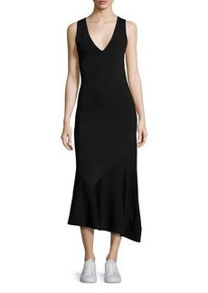 Theory Gardella Lustrate Sleeveless V-Neck Midi Dress
