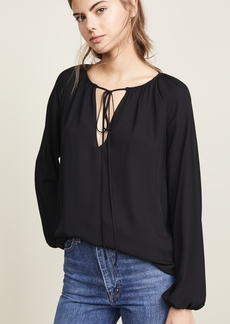 Theory Gathered Long Sleeve Top