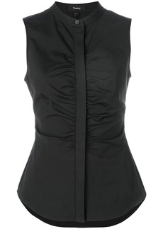 Theory gathered sleeveless blouse - Black