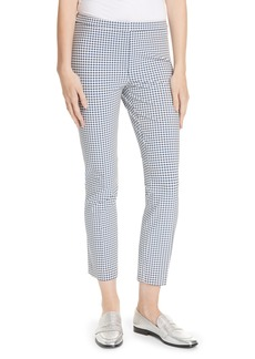 Theory Gingham Check Skinny Pants