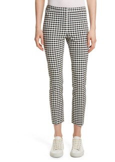 Theory Gingham Classic Skinny Pants