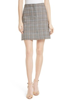 Theory Glen Plaid Miniskirt