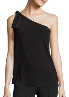 Theory Grajik One-Shoulder Crepe Top