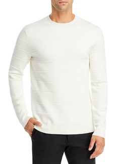 Theory Gregson X Merino Wool Stripe Relaxed Fit Crewneck Sweater