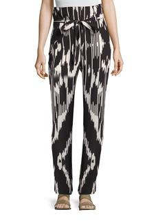 Theory Gunilla Interlace Ikat Silk Pants