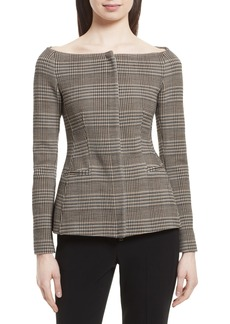 Theory Hadfield Off the Shoulder Stretch Wool Jacket