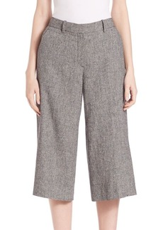 Theory Halientra Linen Wide Cropped Pants
