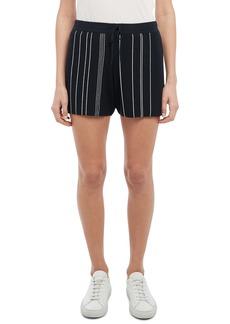 Theory Hankson Stripe Drawsting Waist Shorts