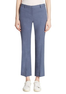 Theory Hartsdale Cropped Straight-Leg Pants