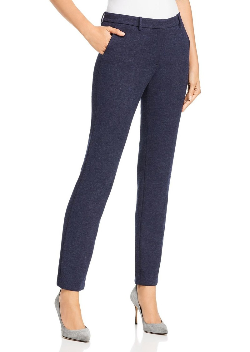 Theory Heathered Straight-Leg Pants