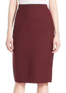 Theory Hemdall Saxton Virgin Wool Skirt