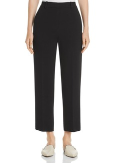 Theory High-Rise Crepe Cropped Pants