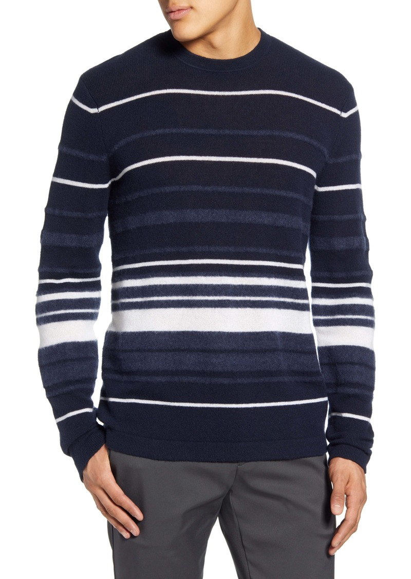 Theory Hilles Stripe Regular Fit Cashmere Sweater
