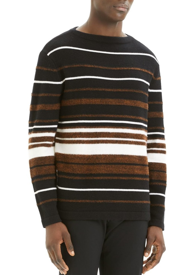 Theory Hilles Striped Crewneck Sweater