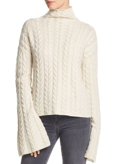 Theory Horseshoe Cable Cashmere Sweater
