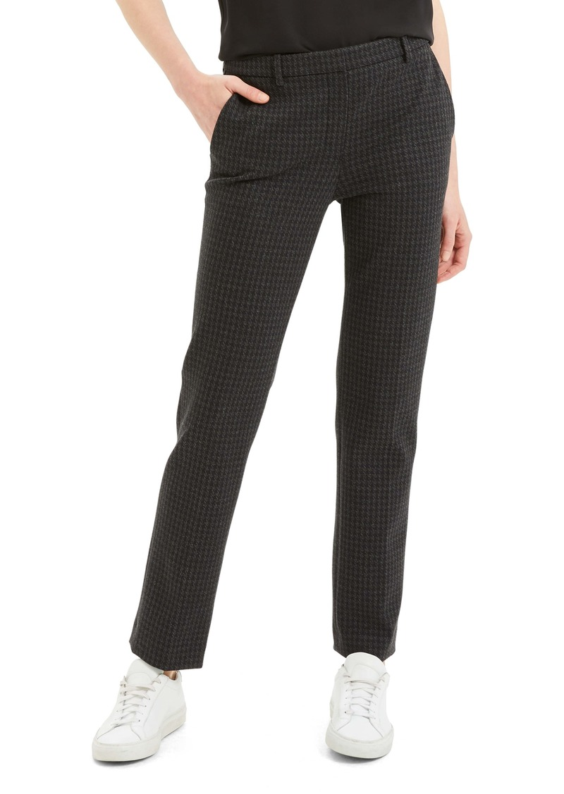 Theory Houndstooth Slim Pants