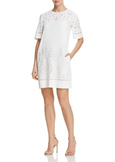 Theory Idetteah Eyelet Shift Dress