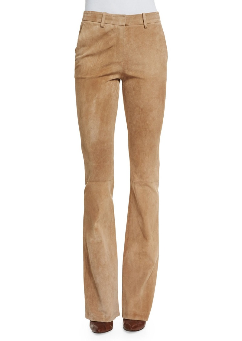 Theory Ilayda Classic Suede Pants