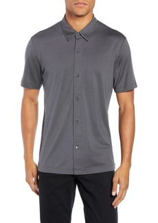 Theory Incisi Slim Fit Knit Silk Blend Shirt