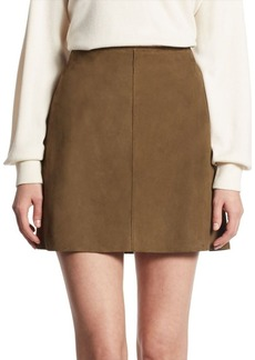 Theory Irenah A-Line Leather Skirt