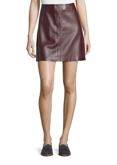 Theory Irenah Wilmore Leather Miniskirt