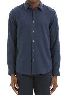 Theory Irving Beacon Slim Fit Mini Houndstooth Check Button-Up Shirt