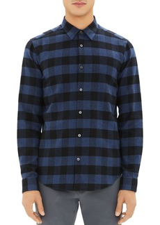 Theory Irving Check Regular Fit Flannel Shirt