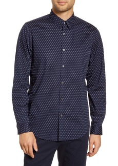 Theory Irving Diamond Slim Fit Button-Up Shirt
