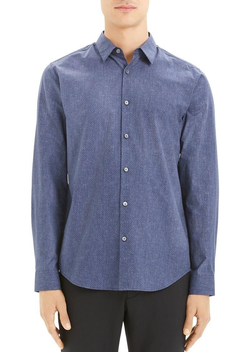 Theory Irving Dot-Print Regular Fit Shirt