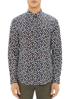 Theory Irving Driggs Printed Regular Fit Shirt