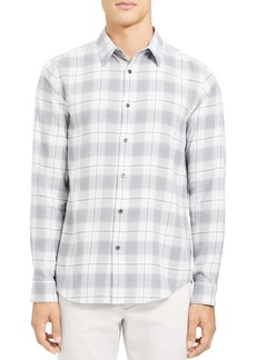 Theory Irving Flannel Grid Regular Fit Shirt