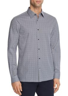 Theory Irving Garrison Rectangle-Print Regular Fit Shirt