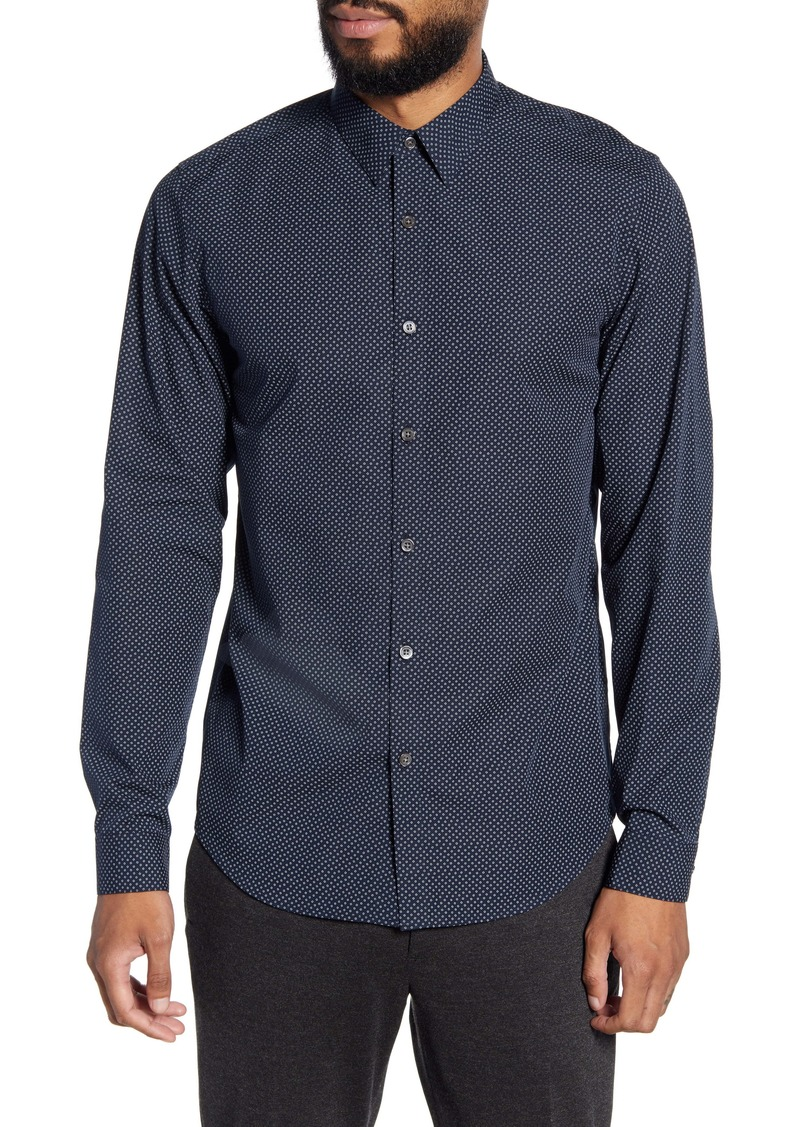 Theory Irving Hyde Slim Fit Print Button-Up Shirt