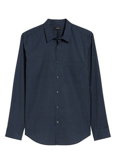 Theory Irving Pa Connel Dotted Sport Shirt