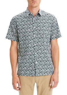 Theory Irving Slim Fit Angle Print Sport Shirt