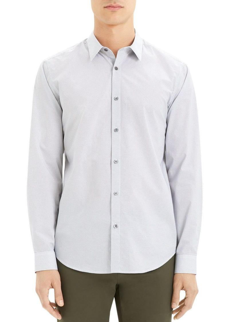 Theory Irving Mini-Print Regular Fit Shirt