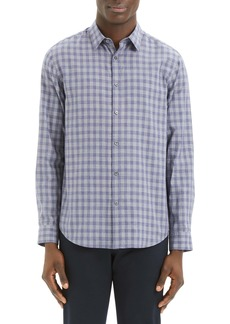 Theory Irving Slim Fit Check Button-Up Sport Shirt