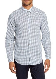 Theory Irving Slim Fit Ghost Plaid Button-Up Shirt