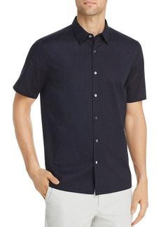 Theory Irving Sphere Short-Sleeve Circle-Print Regular Fit Shirt
