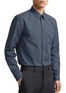 Theory Irving Tick Regular Fit Shirt