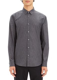 Theory Irving Tone Regular Fit Dot Print Sport Shirt