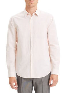 Theory Irving Slim Fit Linen Blend Shirt