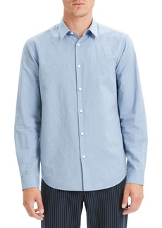 Theory Irving Slim Fit Linen Blend Sport Shirt